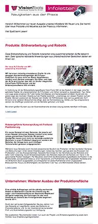 Screenshot VisionTools Infoletter