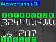 Screenshot Schriftzeichen-Lesesystem