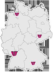 VisionTools Standorte Deutschlandkarte
